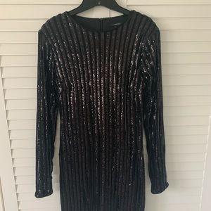 Forever 21 sequined black dress